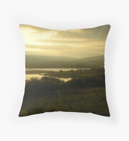 Dusk at Lough Allen Throw Pillow