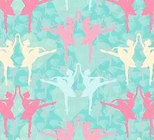 Pastel Ballerinas Pattern by XOOXOO