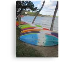 Paddle Boards in Nouméa Canvas Print
