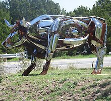 Sculpture oh HWY 290 in Johnson City Texas  (2010) by icesrun