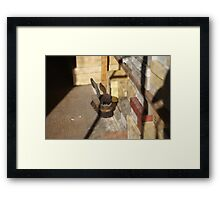 """Shoe Brush"" Framed Print"