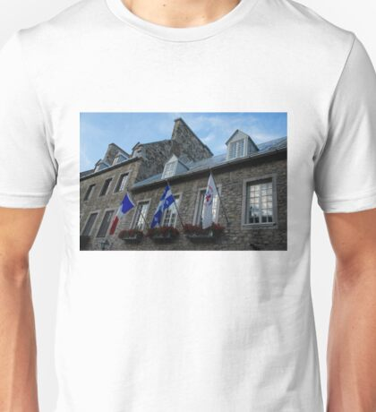 Old Stone Houses in Quebec City, Canada  Unisex T-Shirt