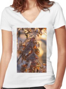 Oak Leaves Jewelry Women's Fitted V-Neck T-Shirt