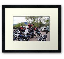 Big Bad Bikers?? Framed Print