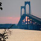 Sunset Under the Newport - Pell - Bridge - Rhode Island © 2010 *featured by Jack McCabe