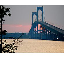 Sunset Under the Newport - Pell - Bridge - Rhode Island © 2010 *featured Photographic Print