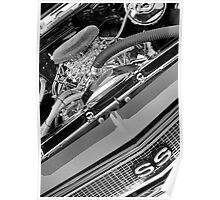 68 Chevelle Engine View Poster
