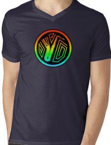 Jazz Colorful Saxophone Mens V-Neck T-Shirt