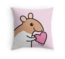 Sweet Ratty Valentine  Throw Pillow