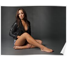Danielle - Leather Jacket Poster