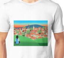 Red Roofed Town Unisex T-Shirt