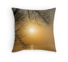 Framing the Golden Sun Throw Pillow
