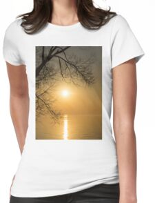 Framing the Golden Sun Womens Fitted T-Shirt