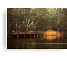 The Viewing Bridge, Kennington Resevoir By Lorraine McCarthy Canvas Print