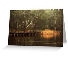 The Viewing Bridge, Kennington Resevoir By Lorraine McCarthy Greeting Card