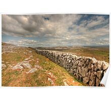 Burren Stone Wall Poster
