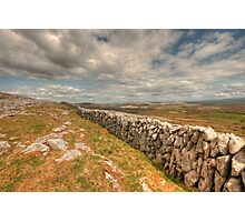 Burren Stone Wall Photographic Print