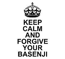 Keep Calm Basenji With Crown Photographic Print