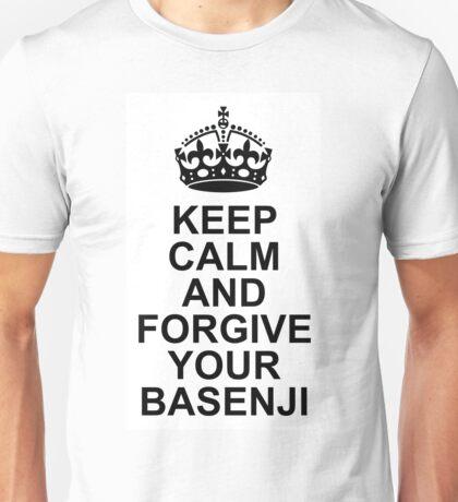 Keep Calm Basenji With Crown Unisex T-Shirt