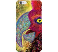 Brightly-coloured Parrot Speaks iPhone Case/Skin