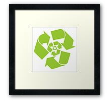 Recycle Recycled Green Framed Print