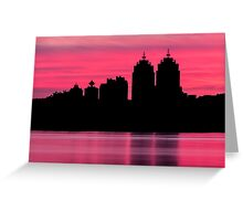 Silhouette city Greeting Card