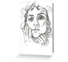 Alia Shawkat  Greeting Card
