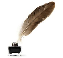 Quill & Ink Bottle by boxsmasher