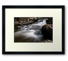Lower West Burton stream Framed Print
