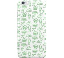 Camping Doodle Print Green iPhone Case/Skin
