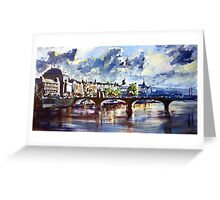 Prague in springtime Greeting Card