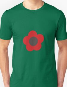 Flowers, Blossoms, Blooms, Petals - Brown Red T-Shirt