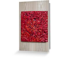 Fragile Colours (Lipstick Red) Greeting Card