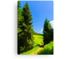 Impressions of Green Forests and Meadows Canvas Print