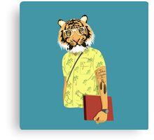 Hipster Tiger Canvas Print