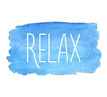 Watercolor Relax Photographic Print