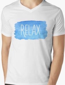 Watercolor Relax Mens V-Neck T-Shirt