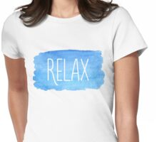 Watercolor Relax Womens Fitted T-Shirt