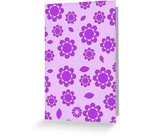 Flowers, Petals, Blossoms - Purple  Greeting Card