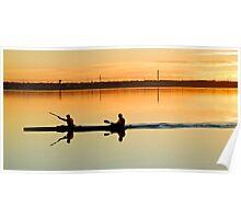 Evening kayaking Poster