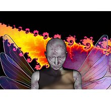 CRACKED ANGEL Photographic Print
