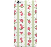 Shabby Chic, Stripes, Dots, Roses - Red Green  iPhone Case/Skin