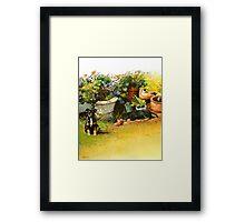 Flowerpot Pups Framed Print
