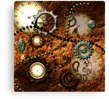Steampunk, clocks and gears Canvas Print