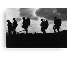 Battle of Broodseinde - World War 1 - Troop Silhouette  Canvas Print