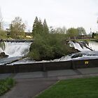 Tumwater Falls on a spring day by Steffikins
