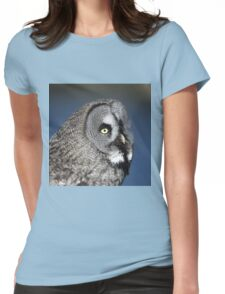Great Grey Owl Womens Fitted T-Shirt