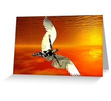 FLYING TO THE SUN Greeting Card