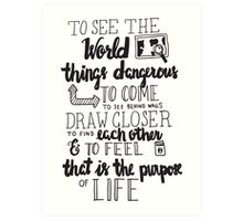 Walter Mitty Life Motto - Black Art Print