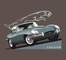 E-Type Jaguar Series 1 Coupe silver T-Shirt